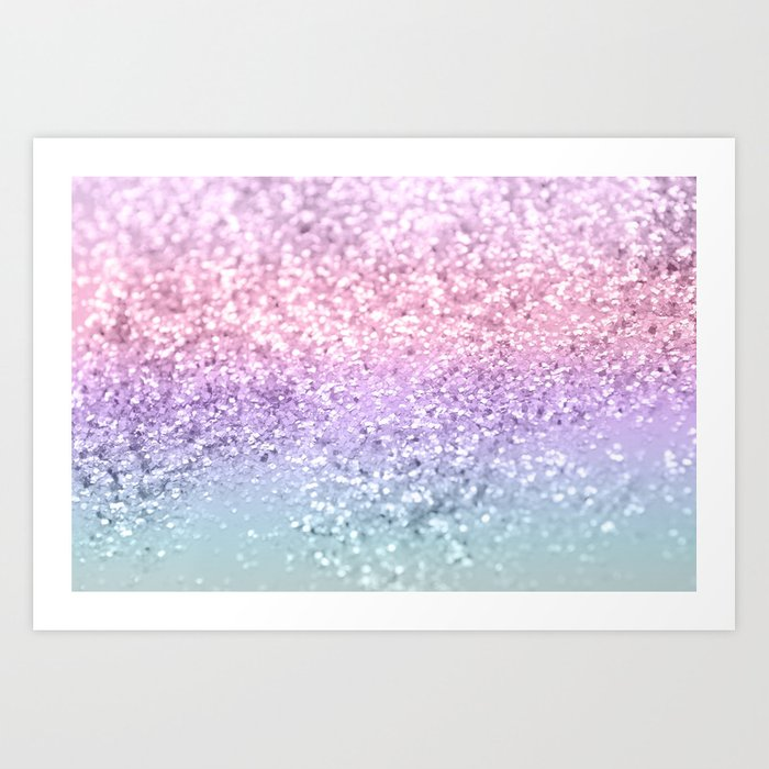 Unicorn Girls Glitter #1 #shiny #pastel #decor #art #society6 Art Print