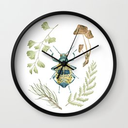 Coleoptera beetle in the Forest Wall Clock