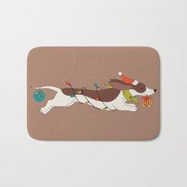 Christmas Dachshund Bath Mat