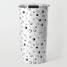 Pattern design with moons and craters Travel Mug