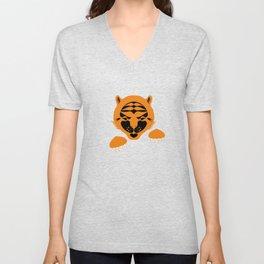 Orange Tiger Cub. Unisex V-Neck