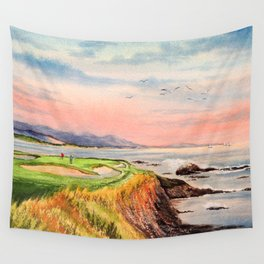 Pebble Beach Golf Course 7th Hole Wall Tapestry