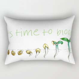 It's Time to Bloom! Rectangular Pillow