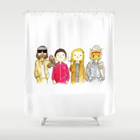 tenenbaum Shower Curtains featuring Royal Tenenbaum bought the house on Archer Avenue in the winter of his 35th year by Space Bat designs