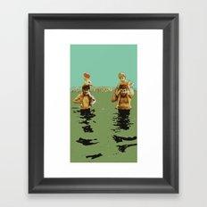 Coney Island Framed Art Print