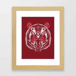 POLAR KUMA RED WHITE: ANATOMY BRAND  Framed Art Print