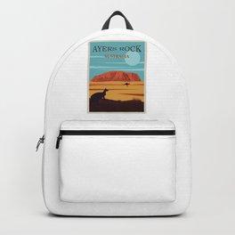 Ayers Rock Australia, Uluru Travel Poster Backpack