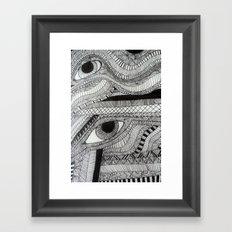 2 eyes Framed Art Print