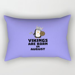 Vikings are born in August T-Shirt D65ks Rectangular Pillow