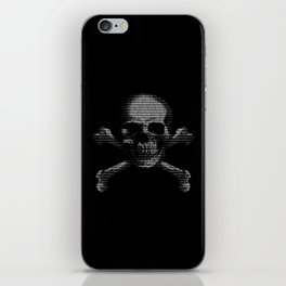 Hacker Skull and Crossbones iPhone Skin