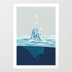 Iceberg castle Art Print