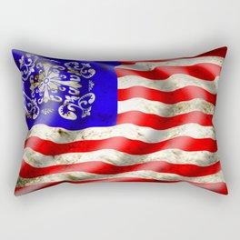 A wavy American flag Rectangular Pillow