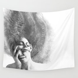 Masks by Iris Compiet Wall Tapestry