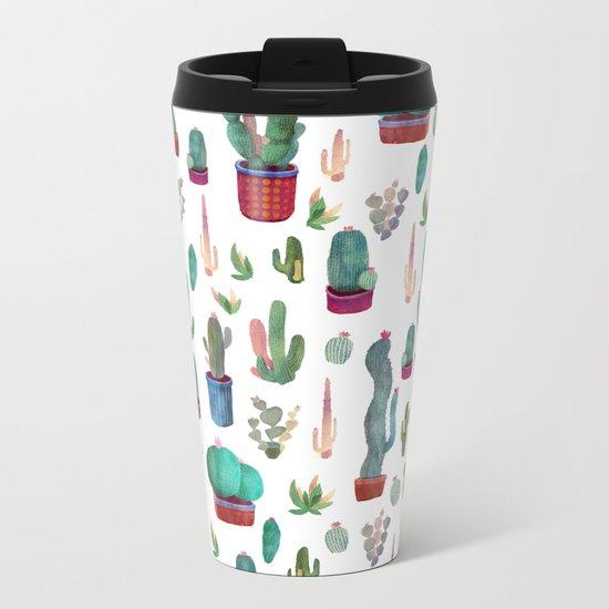 cactus!!! Metal Travel Mug