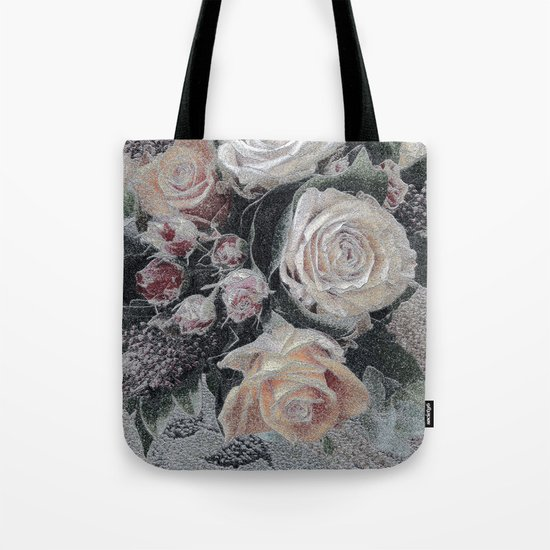 First Frost- Frozen Flowers  Tote Bag