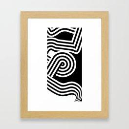 Linear Framed Art Print