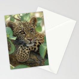 Leopard Cub - Tree Hugger Stationery Cards
