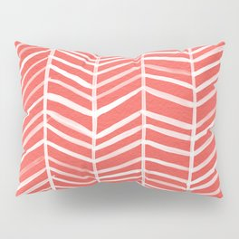 Coral Herringbone Pillow Sham