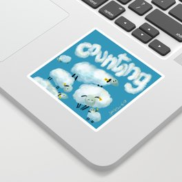 Counting sheep Sticker