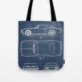 Camaro blueprint Tote Bag
