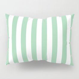 Mint Green Small Even Stripes Pillow Sham
