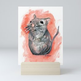 Hoping - Little Watercolor Mouse Mini Art Print