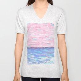 Pink Sky Delight Unisex V-Neck
