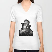 johnny depp V-neck T-shirts featuring johnny depp by sophia derosa