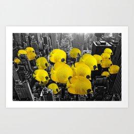 Urban Animals Tangs Art Print