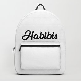 Habibis T-shirt gifts for Arabs Backpack
