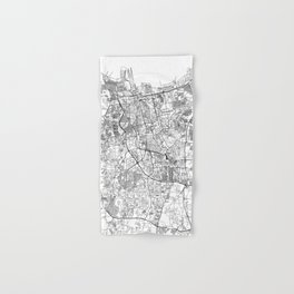 Jakarta White Map Hand & Bath Towel