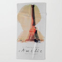 Amelie, minimalist movie poster, french film playbill, the fabulous life of Amélie Poulain, Beach Towel