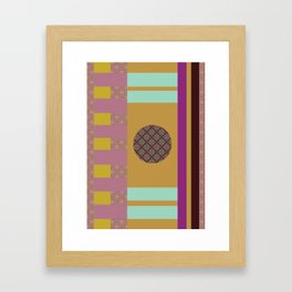 Mix n Match with Circle 2 Framed Art Print