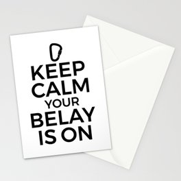 Funny Rock Climbing Gift - Your Belay is On Stationery Cards