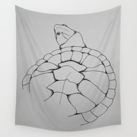 turtle Wall Tapestries featuring Turtle by seekmynebula
