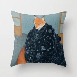 The Fox's Wedding Throw Pillow