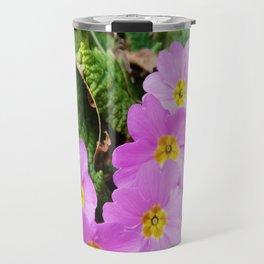 Lilac Petals Of Primula Vulgaris Travel Mug