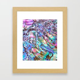 Shimmery Rainbow Abalone Mother of Pearl Framed Art Print