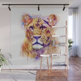 Lioness Head Wall Mural