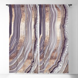 Tribeca Rose Gold Abstract Blackout Curtain