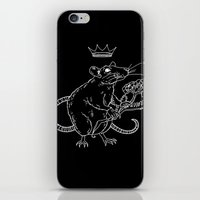 heymonster iPhone & iPod Skins featuring Rat King (white) by heymonster