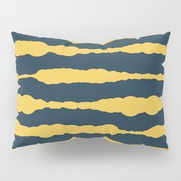Macrame Stripes in Mustard Yellow and Navy Blue Pillow Sham