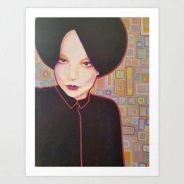 Strong woman portrait Art Print