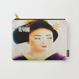 Japanese Geisha oil painting Carry-All Pouch