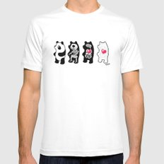 Panda Anatomy MEDIUM Mens Fitted Tee White