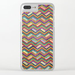 Seamless Colorful Geometric Pattern XVII Clear iPhone Case