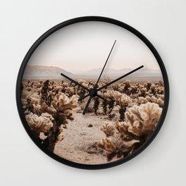 Joshua Trees Desert Landscape Wall Clock