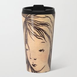 Girls caught in the wind Travel Mug