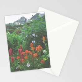 Wildflowers - Yankee Boy Basin above Ouray, Colorado Stationery Cards