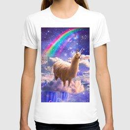 Rainbow Llama Unicorn - Llamacorn T-shirt